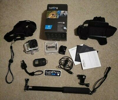 GoPro HERO3 Black Edition 12Mp - Silver with WIFI remote and Accessories