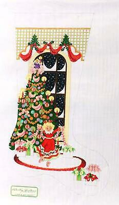 Little Girl Ballet LG Stocking handpainted Needlepoint Canvas Strictly Christmas