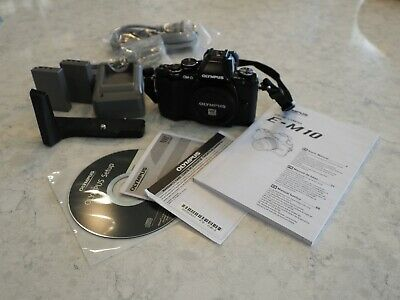 Olympus OM-D E-M10 16.1MP Digital SLR Camera - Black (Body Only) with Extras!