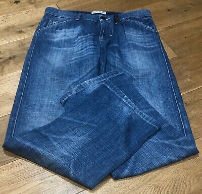 Boys Genuine Stone Island Straight Leg Jeans In Blue Age 10 Years - Rrp £150 -
