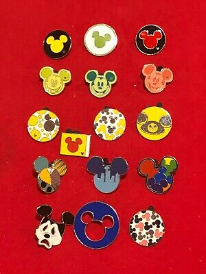 16 Disney pins Assorted Mouse Ear Icons As Seen Lot x
