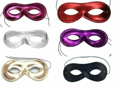 Black Superhero Domino Zorro Eyemask Bandit Robber World Book day Halloween Mask