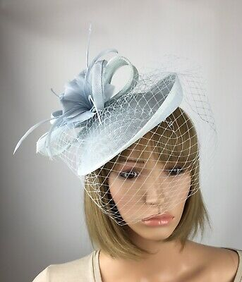 Pale Blue Baby Blue Light Blue Fascinator Wedding Occasion Hatinator Races