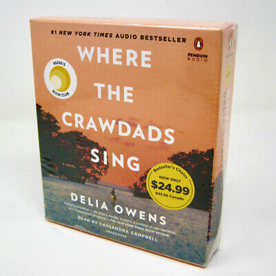 Where the Crawdads Sing by Delia Owens - Unabridged Audiobook on 10 CDs - NEW