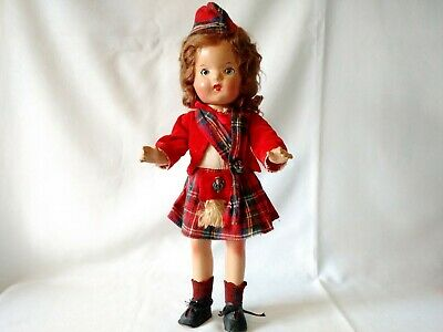 """Vintage 16"""" Scottish Composition Doll Reliable Toy Co Canada 1940's"""