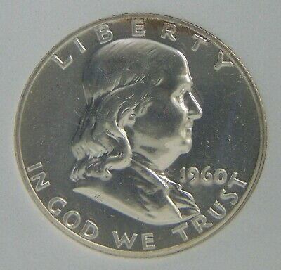 1960 Franklin Silver Half Dollar, Uncirculated PROOF, NICE COIN!
