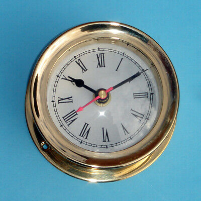 Vintage Solid Brass Chelsea Seth Thomas Corsair Style Gimbal Mariner Ship Clock