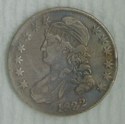 1832 Capped Bust Silver Half Dollar, NICE COIN!!! AWESOME TONING!!!
