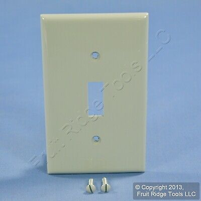 New Leviton Gray Unbreakable Toggle Switch Cover Wall Plate Switchplate 80701-GY