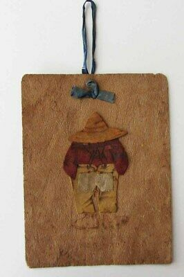 Old Vintage Picture MAN of Redwood + Leather California Orange Wood Mfg Monrovia