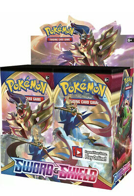 SWORD AND SHIELD BASE SET 36 ct BOOSTER BOX POKEMON TCG NEW & SEALED! SHIPS 2/14