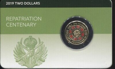 2019 $2 Lest We Forget Centenary of Repatriation Coin carded 100 years