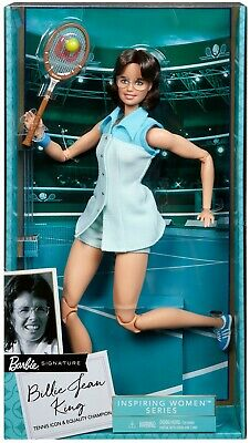 Barbie Inspiring Women Series Billie Jean King Collectible 12-in Doll - New 2020