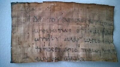 Nice interesting old papyrus with coptic writting about 165x95 mm