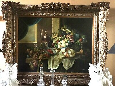 "Fantastic Large 36""x48"" Oil Painting.on Canvas; Frame width, Approx 71/2"" wide"