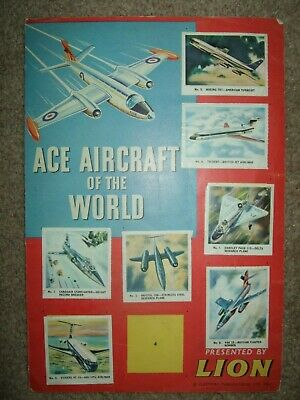 LION Comic 19 january 1963 Free gift - ACE AIRCRAFT OF THE WORLD Sticker Album