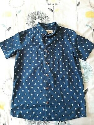 Boys River Island Shirt 12 Years Great Condition. Blue with white skull detail.