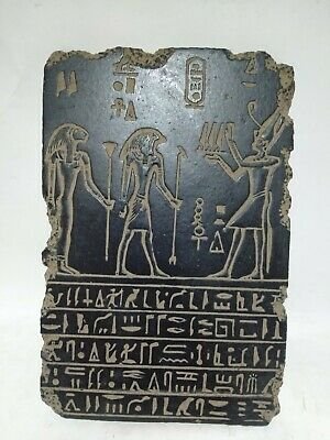RARE ANTIQUE ANCIENT EGYPTIAN Stela Sekhmet Horus King Tutankhamun 1525 Bc