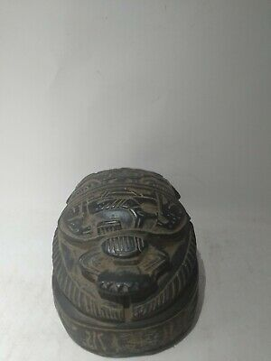 RARE ANTIQUE ANCIENT EGYPTIAN Scarab Beetle Carved Stone 1445-1540 Bc