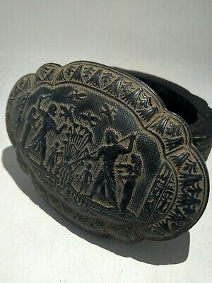 RARE ANTIQUE ANCIENT EGYPTIAN Statue Jewelry Box 1820 Bc