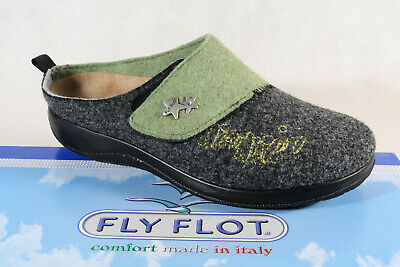 Fly flot Ladies Slippers Mules Slippers Grey/Green New