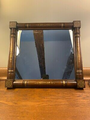"""VINTAGE HITCHCOCK STENCILED WOOD MIRROR ALFORD HIGH QUALITY 21 1/2""""x19 1/2 MINT!"""
