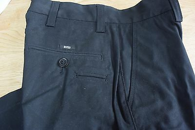 BNWT Designer Hugo Boss smart tailored chino style trousers in age 12, black