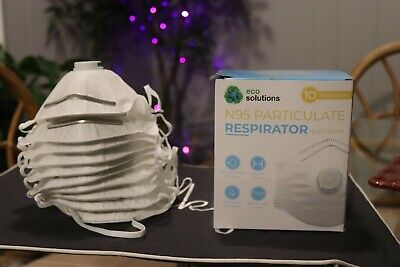 N95 Eco Solutions dust Mask respirator - NIOSH APPROVED-10 masks / case box