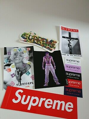 SS20 Supreme stickers pack Naomi Tupac Paint Shop Loved By The Children