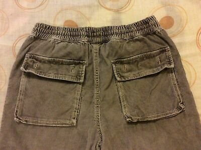 "Mini Boden 10-12 Years Kids Grey Corduroy Jeans Waist 26-28"" Worn 2/3 Times Only"
