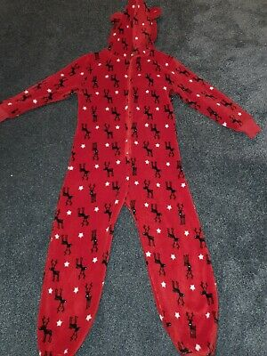 Girls Hooded Next all in one pyjamas/jumpsuit 9 Years
