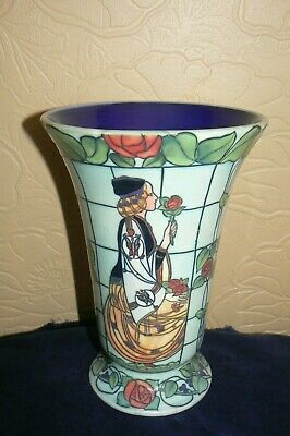 Arts & Crafts Style Trellis Pattern Vase After Charles Rennie Mackintosh