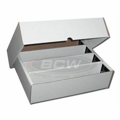 3 x Damaged Trading / Gaming Card BCW Storage Box Holds Approx 3200 Cards