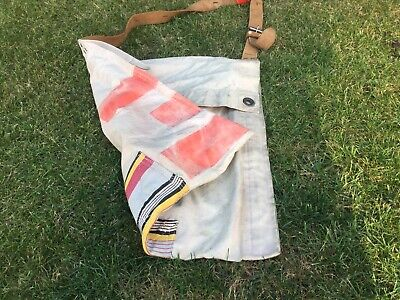Antique Old Vintage Messenger Bag Handmade From Boat Sails Unique Hand Luggage