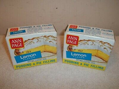 Vtg Lot Of 2 UNOPENED A&P GROCERY STORE ANN PAGE LEMON PUDDING BOXES