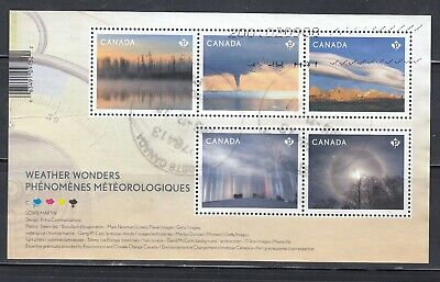 Canada Souvenir Sheet Used, Weather Wonders with Prevost, PQ Cancel!!