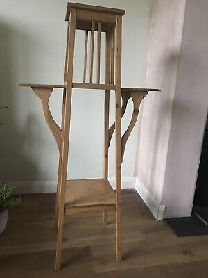 Lovely Old Pine Victorian Antique Plant Pot Stand