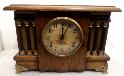 American 1904 Sessions Column Mantle Clock With Hour/Half Hour Strike