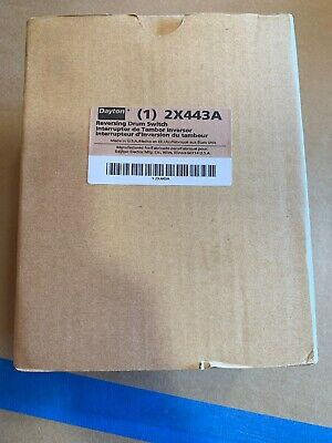 New In Box Dayton 2X443A Maintained Reversing Drum Switch