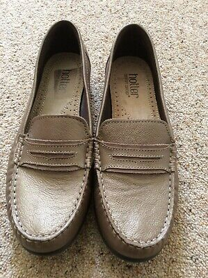 Hotter Comfort Concept Darcy ladies metallic brown leather loafers UK size 6.5