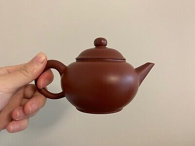 Small Chinese Yixing Teapot Red Clay, Signed On Bottom, Excellent Craftsmanship