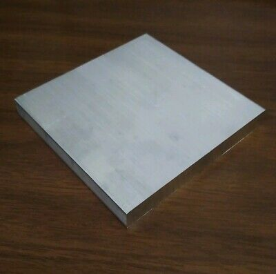 "6061 aluminum .5"" X 8"" X 9"" long new solid plate flat stock bar block 1/2"