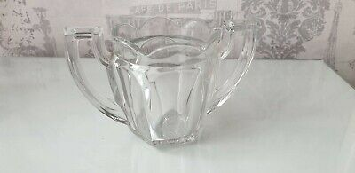 Vintage Art Deco Thick 2 handled trophy glass jug Chippendale Style by Davidson