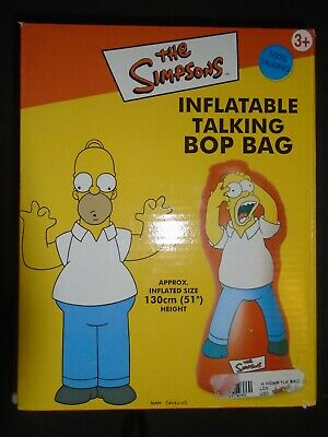 2001 The Simpsons Inflatable Talking Bop Bag NEW 20th Century Fox Homer Simpson!