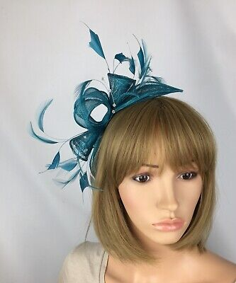 Teal Fascinator Teal Hatinator Ladies Day Ascot Races Mother Bride Wedding Hat