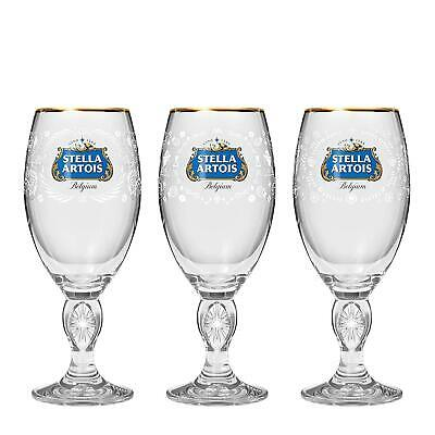 Stella Artois Beer Three Chalice Gift Pack Limited Edition New