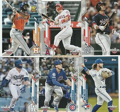 2020 Topps Opening Day Baseball Base U-Pick Complete Your Set Alvarez ,Lux Rc