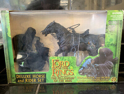 LORD OF THE RINGS DELUXE HORSE RIDER SET Toybiz LOTR In Original Packaging 2001
