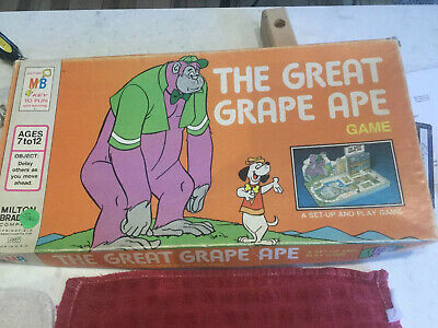 Vintage Board Game ~ The Great Grape Ape Game ~ Milton Bradley 4607 ~ 1975