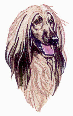Afghan Hound Dog Breed Bathroom SET OF 2 HAND TOWELS EMBROIDERED